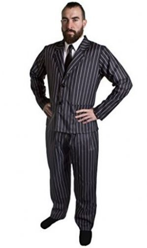 Pinstriped Gangster Plus Size Costume